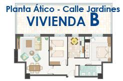 Calle Jardines, planta ático Vivienda B
