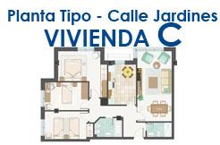 Calle Jardines, planta 1ª, 2ª o 3ª Vivienda C