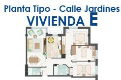 Calle Jardines, planta 1ª, 2ª o 3ª Vivienda E