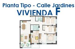 Calle Jardines, planta 3ª Vivienda F