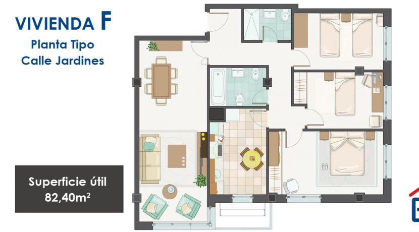 jardines vivienda tipoF